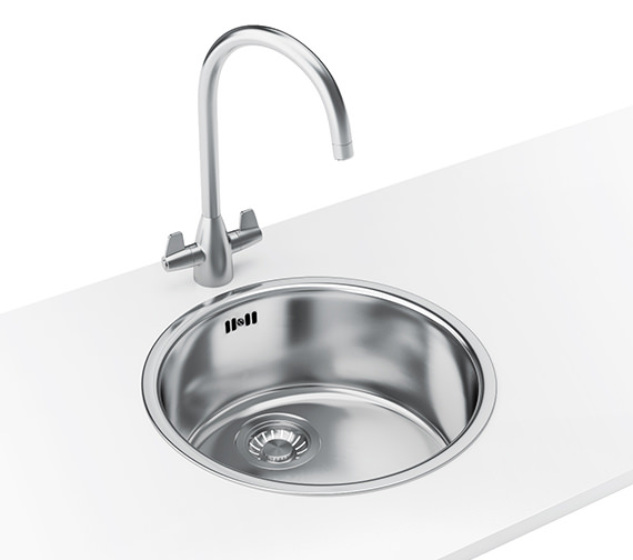 Franke Rotondo Designer Pack RBX 610 Stainless Steel Sink And Tap
