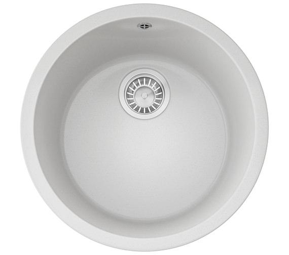 Franke Rotondo RBG 610 Fragranite Polar White 1.0 Bowl Inset Kitchen Sink