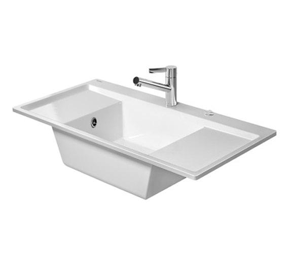 Duravit Kiora 60 Z Central Bowl Flush Mount Kitchen Sink - 7522100027