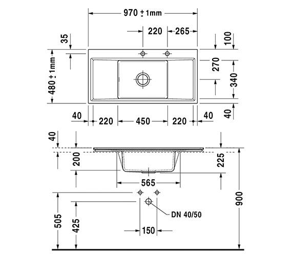 Technical drawing QS-V6397 / 7522100027