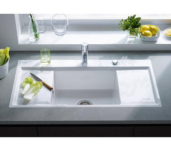 Additional image of Duravit Kiora 60 Z Central Bowl Flush Mount Kitchen Sink - 7522100027
