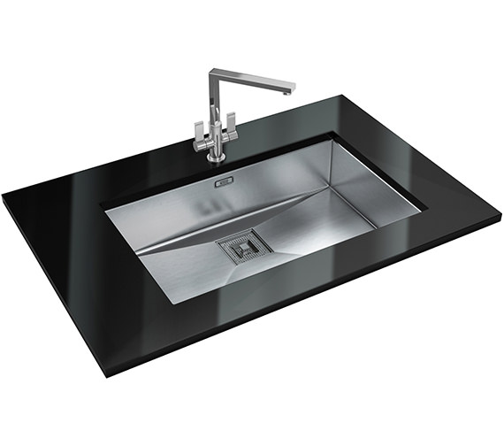 Franke Peak Designer Pack PKX 110 70 Stainless Steel Sink And Tap