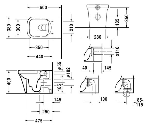 Technical drawing QS-V6393 / 2166090000