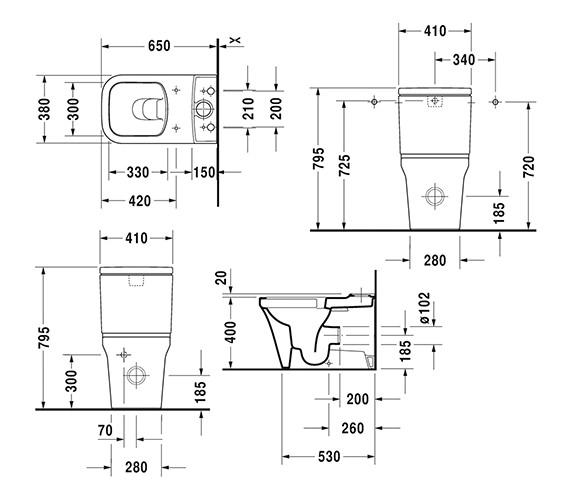 Technical drawing QS-V6394 / 2167090000