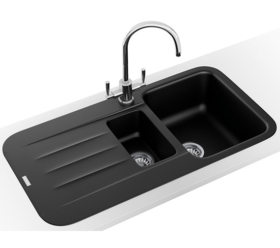 Franke Pebel Designer Pack PBG 651 Fragranite Onyx Inset Sink And Tap