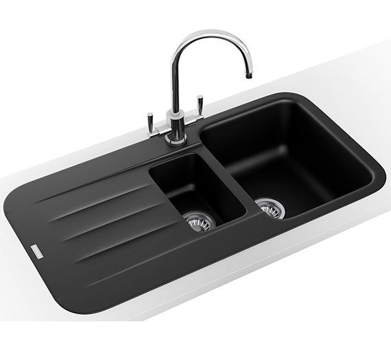 Franke Pebel Designer Pack PBG 651 Fragranite Onyx Inset Sink And Tap