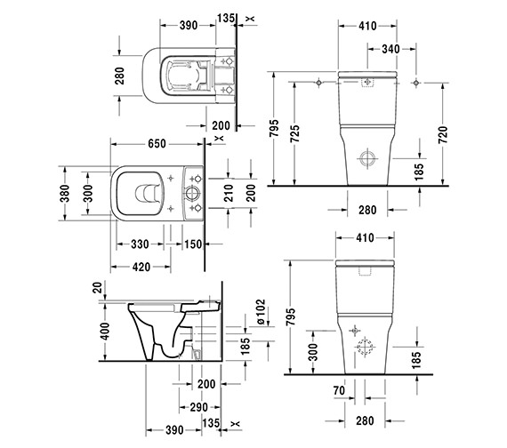 Technical drawing QS-V6395 / 2163090000