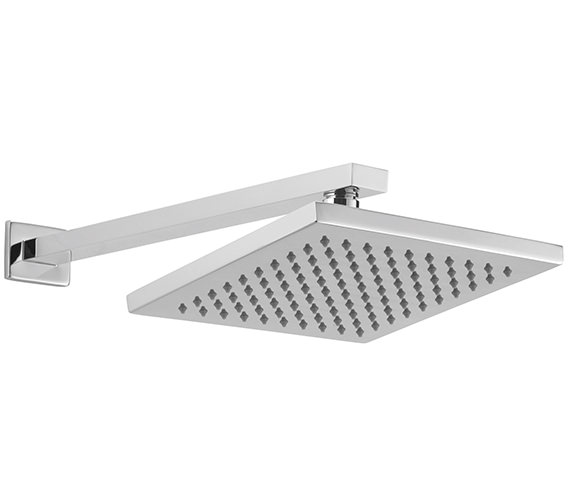 Sagittarius Evolution 200 x 200mm Fixed Shower Head And Wall Mounted Arm