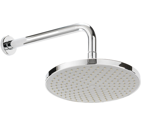 Sagittarius Arezzo 220mm Fixed ABS Shower Head And Wall Mounted Arm