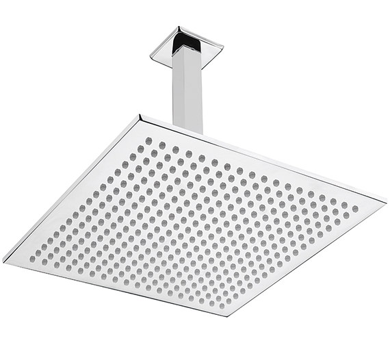 Sagittarius Como Cube 300mm Fixed Shower Head And Ceiling Mounted Arm