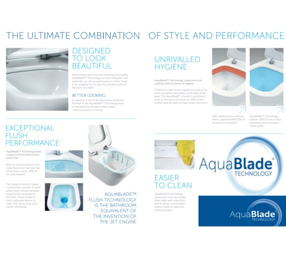 Additional image of Ideal Standard Tesi Back to Wall Toilet With Aquablade Technology
