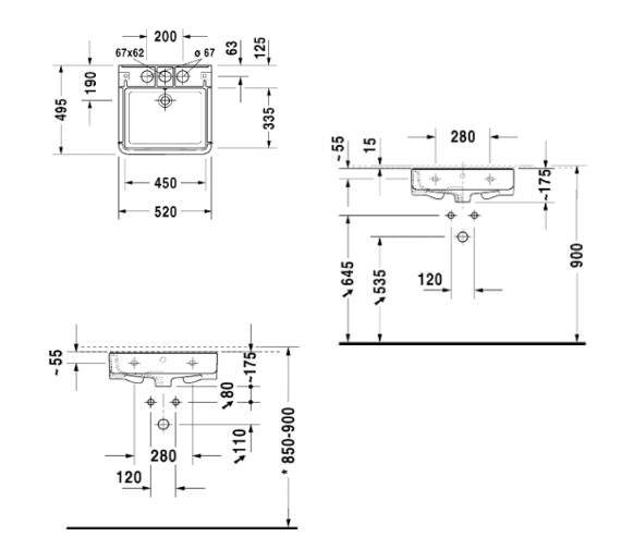Technical drawing QS-V52973 / 2631520030
