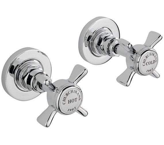 Sagittarius Churchmans Pair Of 0.5 Inch Wall Mounted Side Valves Chrome