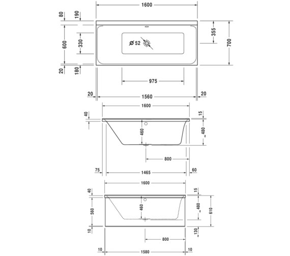Technical drawing QS-V76420 / 760371000CE1000