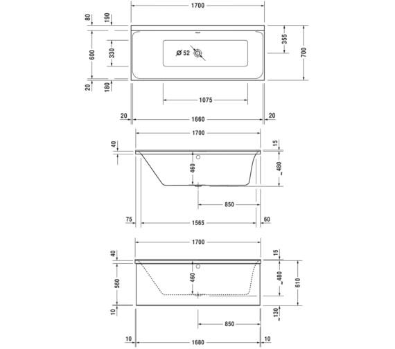 Technical drawing QS-V52192 / 700373000000000