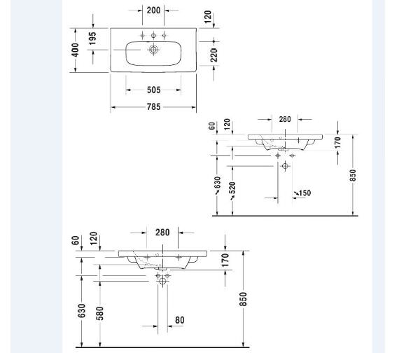 Technical drawing QS-V6328 / 2337780000