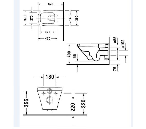 Technical drawing QS-V24925 / 2537090000