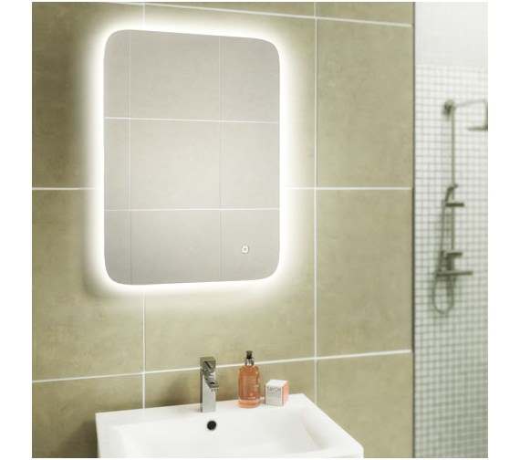 HIB Ambience 40 Steam Free Mirror With Colour Changing LED Lighting 400 x 800mm