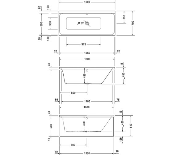 Technical drawing QS-V61212 / 760372000CL1000