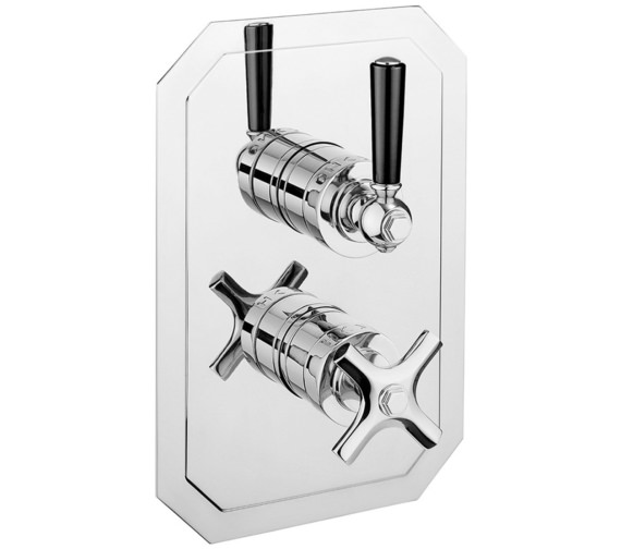 Crosswater Waldorf Black Lever Recessed Thermostatic Shower Valve