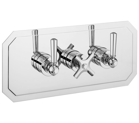 Crosswater Waldorf Chrome Lever Landscape 3 Control Thermostatic Valve