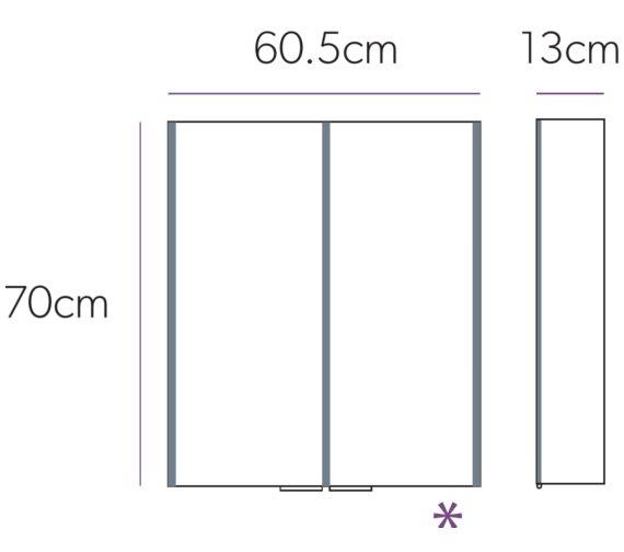 Technical drawing QS-V74561 / 46100