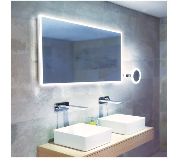 HIB Globe 120 LED Ambient Mirror 1200 x 600mm