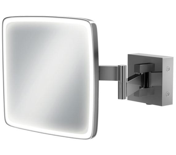 HIB Eclipse Square LED Illuminated Magnifying Mirror