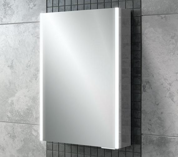 HIB Xenon 50 Single Door LED Illuminated Aluminium Cabinet - 46000