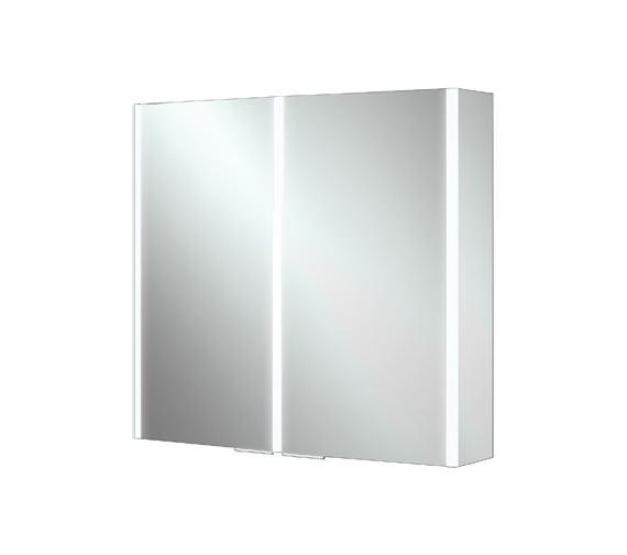 HIB Xenon 80 Double Door LED Illuminated Aluminium Cabinet