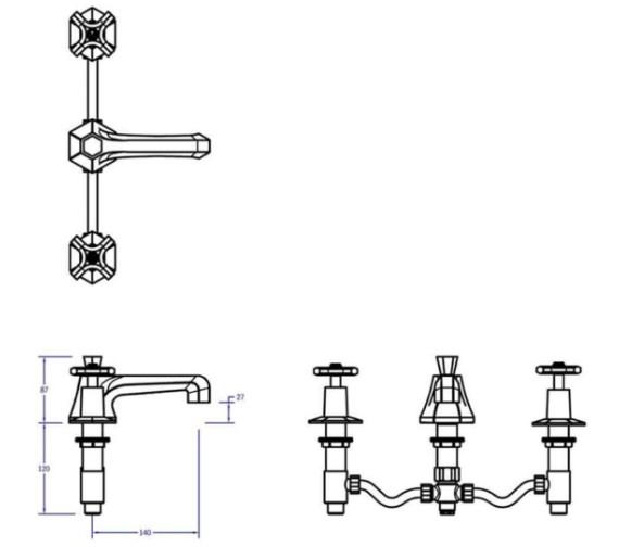 Technical drawing QS-V80076 / WF130DPC