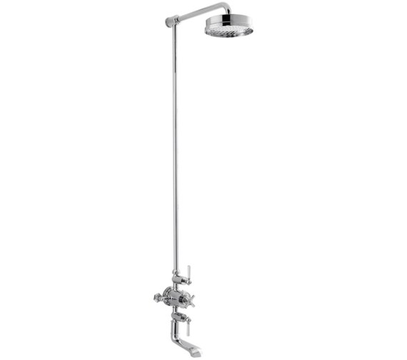 Alternate image of Crosswater Waldorf White Lever Thermostatic Bath Shower Mixer With Head