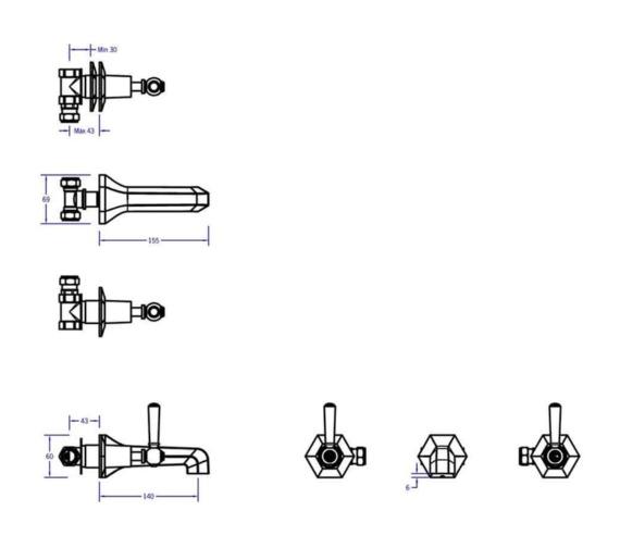 Technical drawing QS-V80100 / WF131WNC_BLV