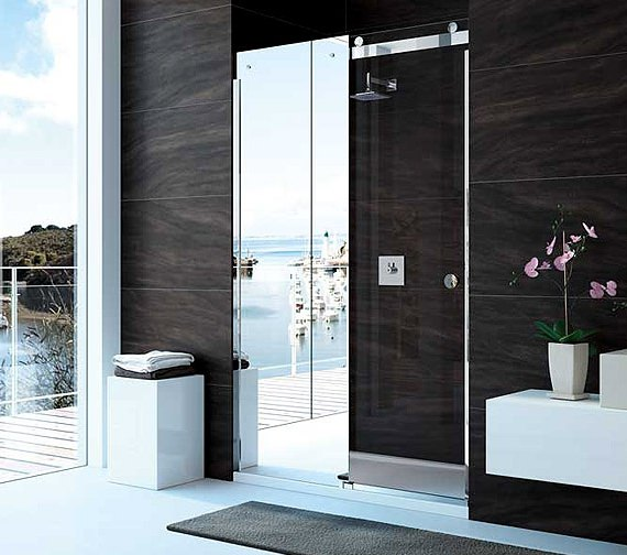 Merlyn 10 Series 1200mm Mirror Sliding Shower Door