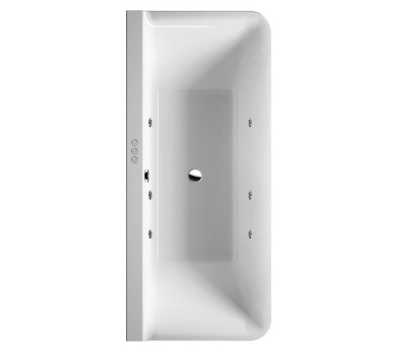 Duravit P3 Comforts 1800x800mm Back To Wall Bath With Panel - Jet System