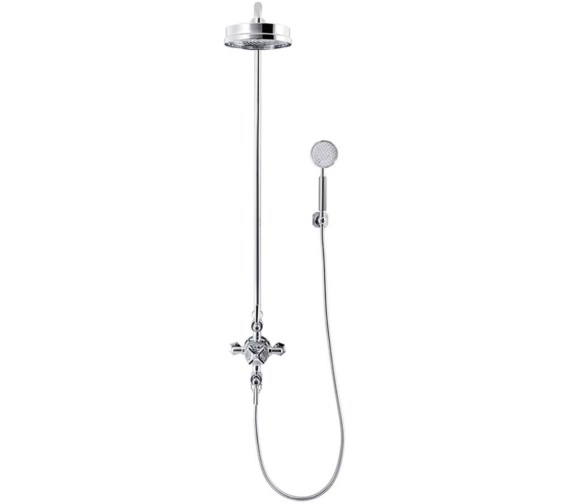 Crosswater Waldorf Chrome Lever Thermostatic Shower Rigid Riser With Handset