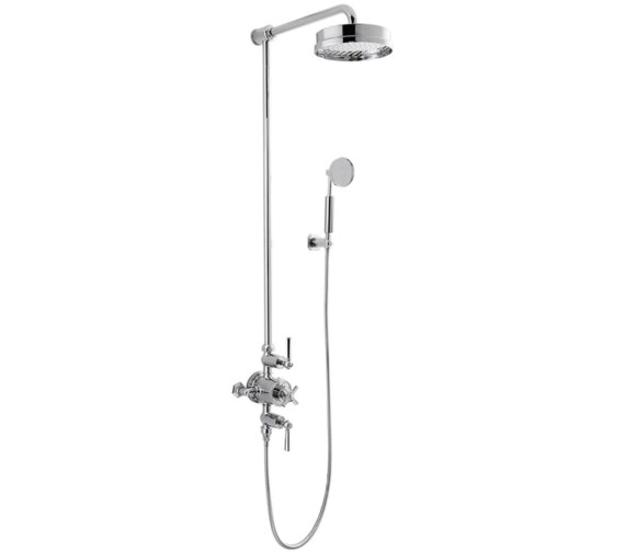 Alternate image of Crosswater Waldorf Chrome Lever Thermostatic Shower Rigid Riser With Handset