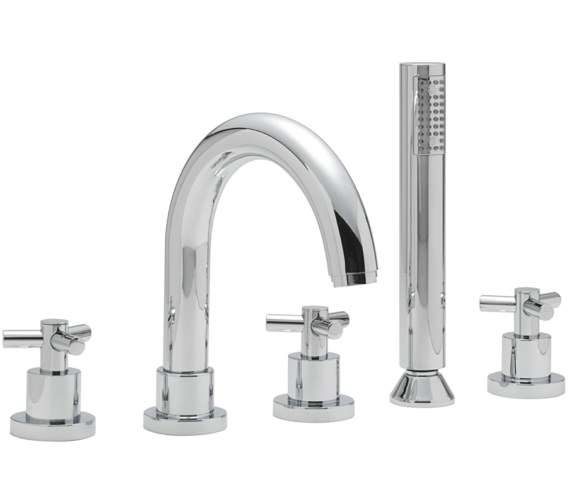 Sagittarius Zone 5 Hole Deck Mounted Bath Shower Mixer Tap
