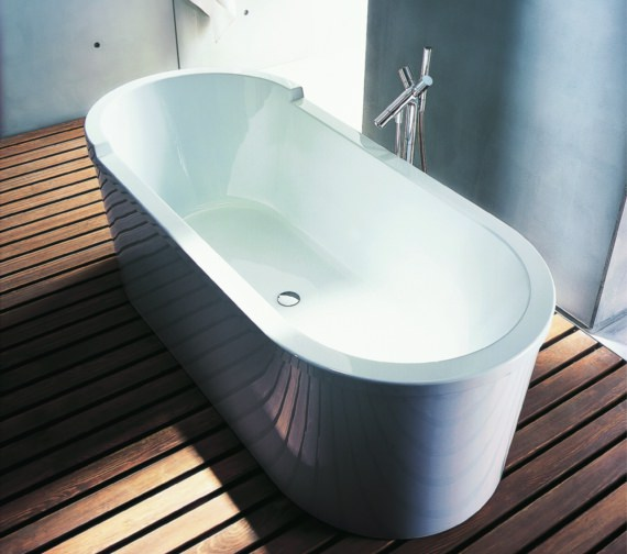 Duravit Starck 1800 x 800mm Freestanding Bath With Panel And Frame - 700010