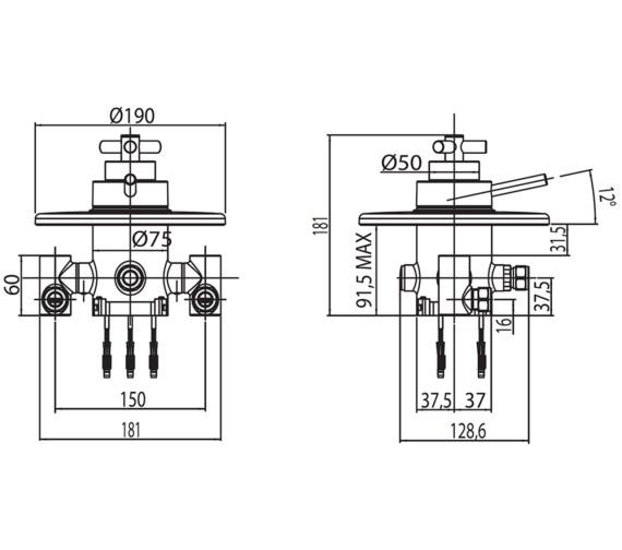 Technical drawing QS-V30542 / ZO/192/C