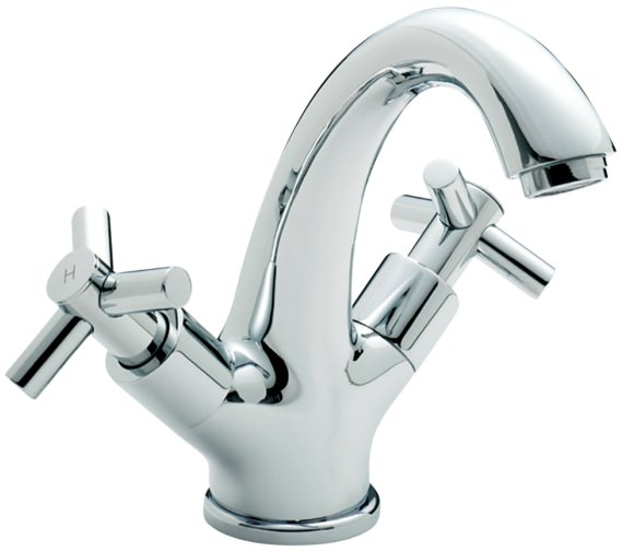 Sagittarius Zone Fixed Spout Monobloc Basin Mixer Tap With Sprung Waste