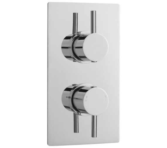 Lauren Quest Round Thermostatic Twin Concealed Shower Valve