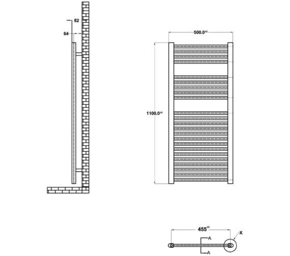 Technical drawing QS-V19422 / HK382