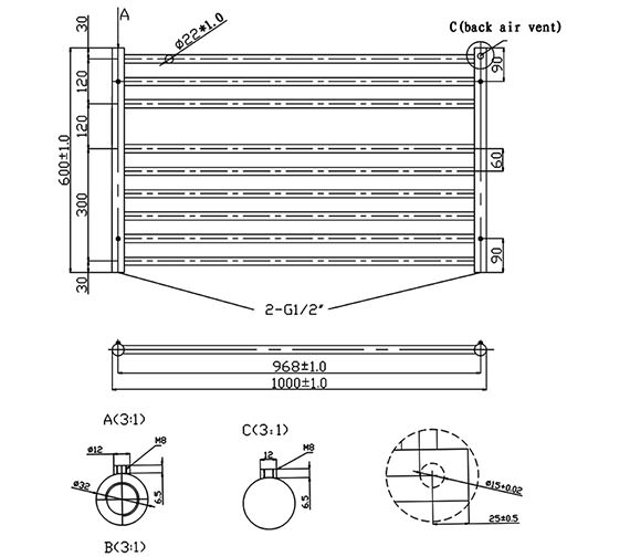 Technical drawing QS-V6576 / RA320
