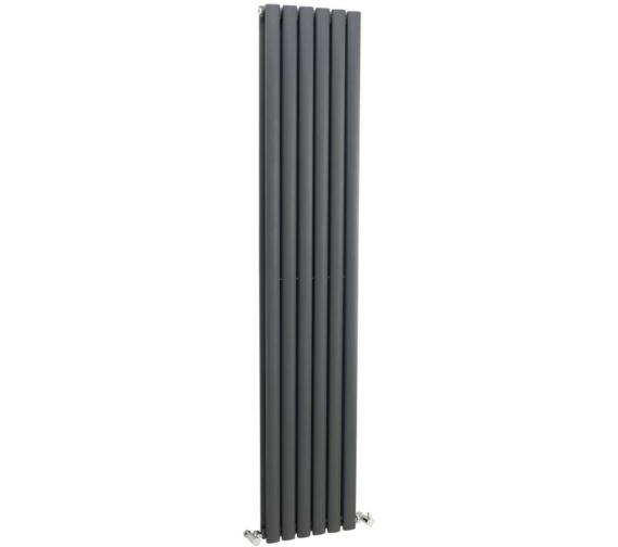 Lauren Ricochet Double Panel 354 x 1800mm Anthracite Vertical Radiator