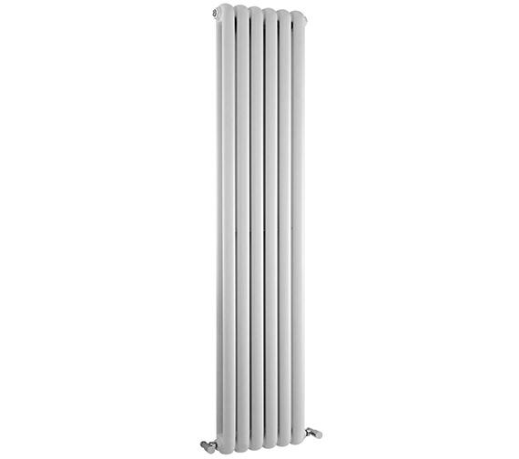 Lauren Salvia Double Panel 383 x 1800mm White Vertical Designer Radiator