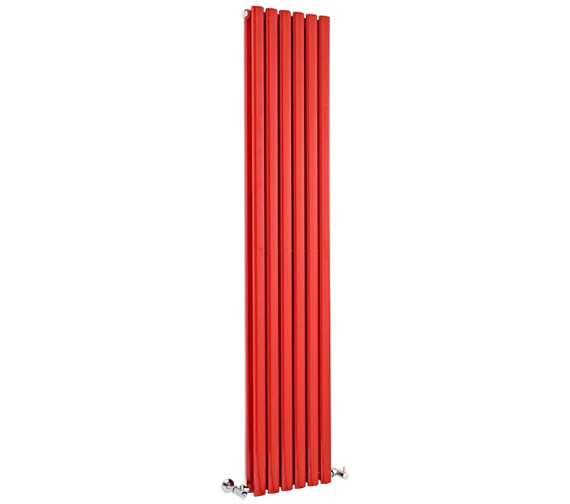 Lauren Ricochet Double Panel 354 x 1800mm Red Vertical Designer Radiator