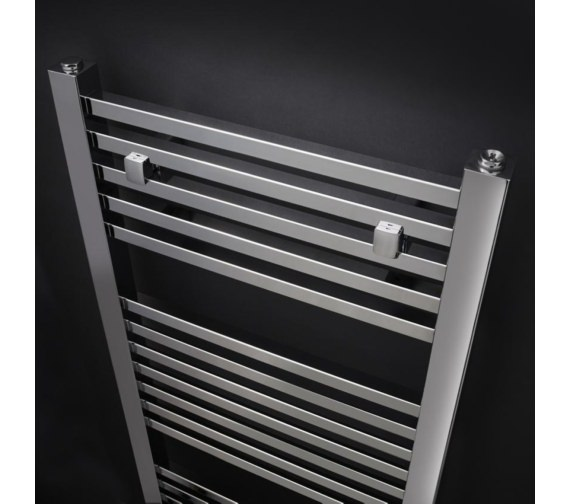 Additional image of Nuie 500mm Wide Chrome Square Heated Towel Rail