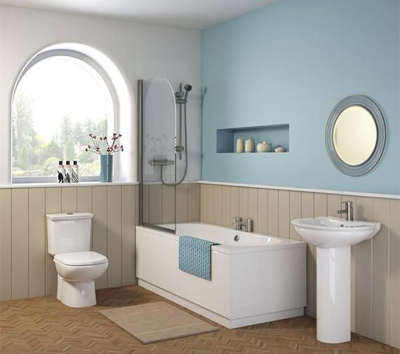 Premier Otley 1700 x 700mm Round Double Ended Acrylic Bath