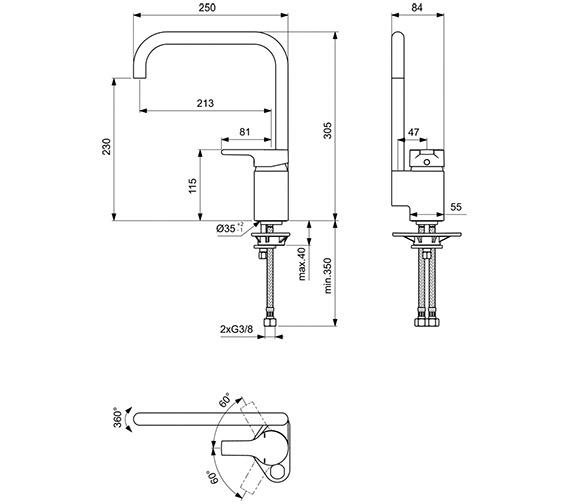 Technical drawing QS-V41031 / B8084AA
